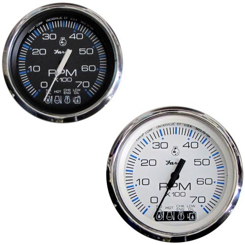 "Faria Chesapeake SS 4"" Tachometer w/Systemcheck Indicator - 7,000 RPM (Gas - Johnson/Evinrude Outboard)"