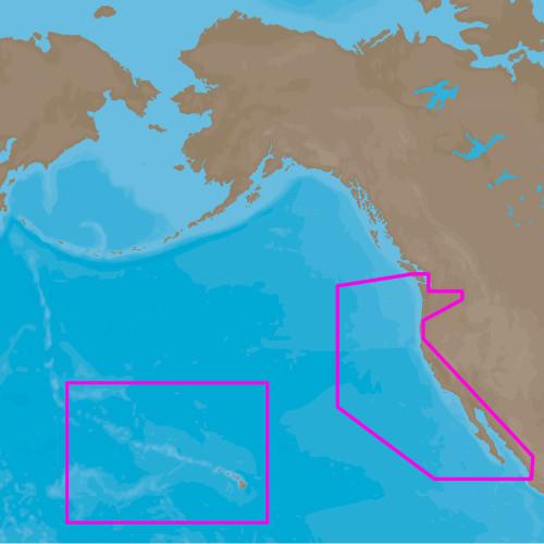 C-MAP 4D NA-D024 - USA West Coast & Hawaii - Full Content
