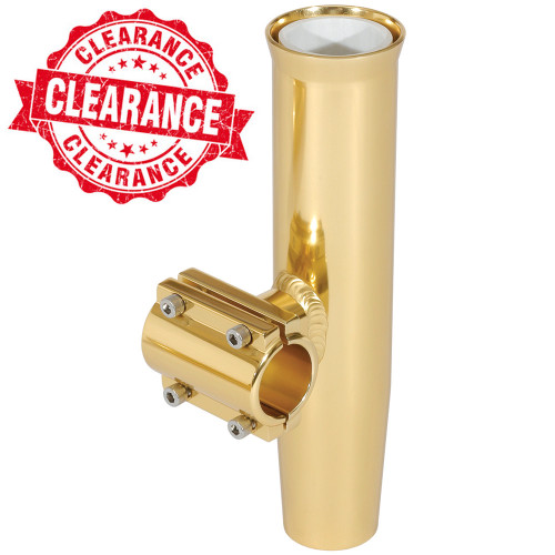 "Lee's Clamp-On Rod Holder - Gold Aluminum - Horizontal Mount - Fits 1.900"" O.D. Pipe"