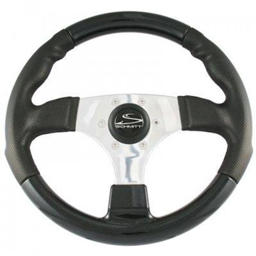 Schmitt Fantasy Steering Wheel - Brushed Aluminum Spokes