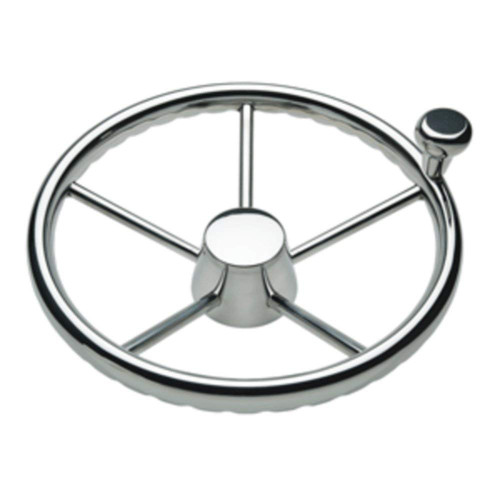 Schmitt & Ongaro Marine 1731321FGK Destroyer Wheel W/Knob 13.5 5-Spoke
