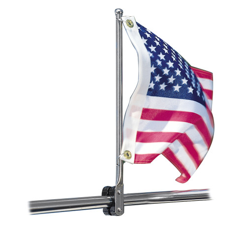 """Taylor Made 7/8""""-1-1/4"""" SS Rail Mount Pulpit Staff ------FLAG NOT IONCLUDED"""
