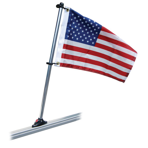 "Taylor Made Pontoon 30"" Flag Pole Mount & 16"" x 24"" US Flag"