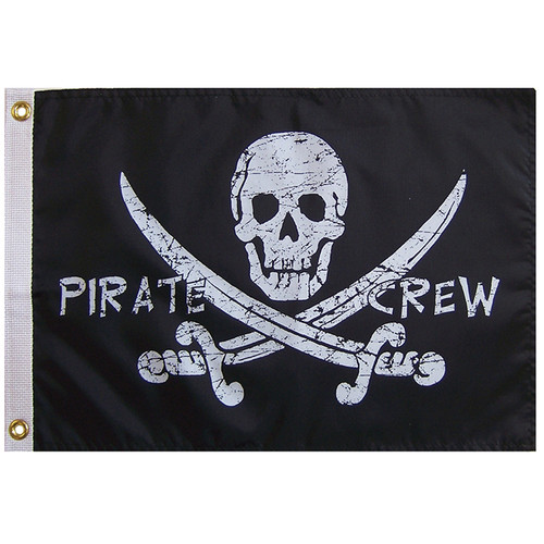"FLAG 12X18 PIRATE ""CREW"""