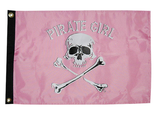 Taylor Made Products 1800, Pirate Heads Boat Flag, 12 inch x 18 inch, Pirate For Life