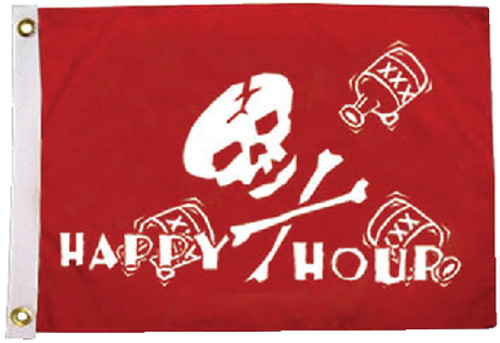 Tayler Made 12 x 18 Pirate Happy Hour Flag