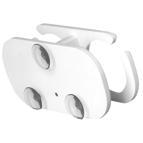 TACO 2-Drink Poly Cup Holder w/Suction Cup Mounts - White