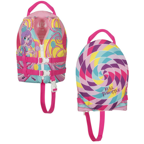 Full Throttle Water Buddies Life Vest - Child 30-50lbs - Princess