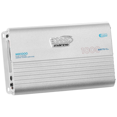 Boss Audio MR1000 Marine Power Amplifier 4-Channel MOSFET Bridgeable