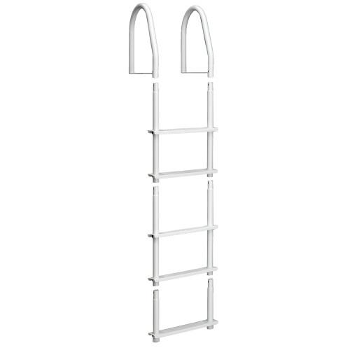 Dock Edge Fixed 5 Step Ladder Bight White Galvalume