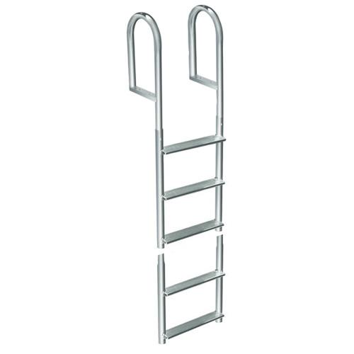 Dock Edge Welded Aluminum Fixed 5 Step Ladder