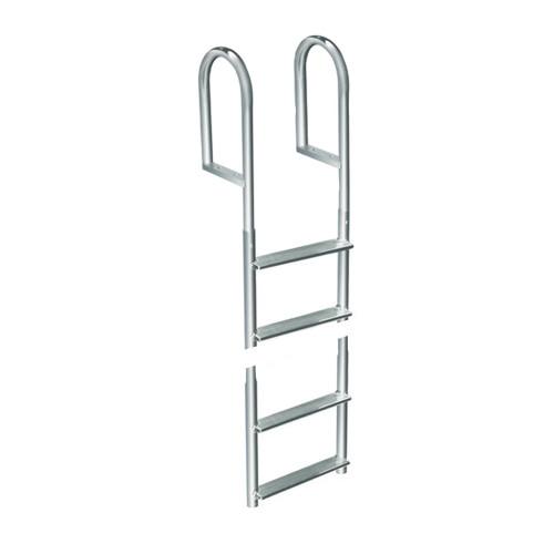 Dock Edge Welded Aluminum Fixed 4 Step Ladder