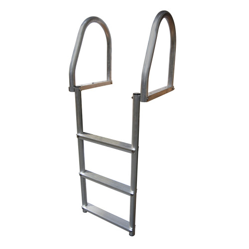Dock Edge Aluminum 3-Step Eco Flip-Up Dock Ladder - Weld Free