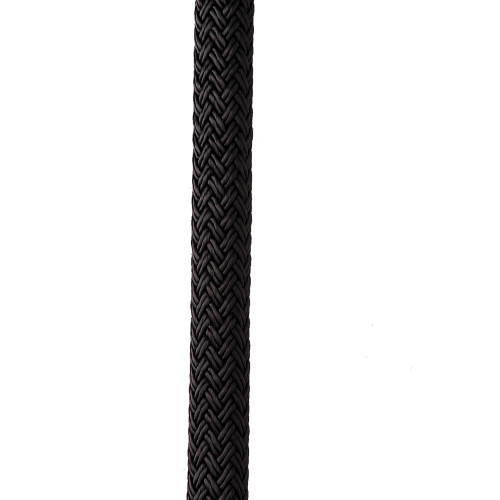 "NEW ENGLAND ROPES 3/4"" X 50' NYLON DOUBLE BRAID DOCK LINE - BLACK"