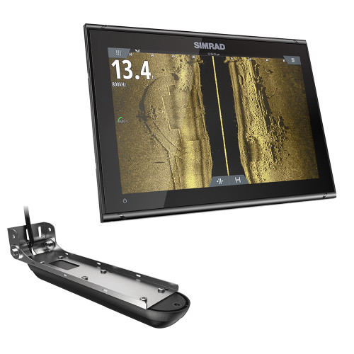 SIMRAD GO9 XSE COMBO W/ACTIVE IMAGING 3-IN-1 TRANSOM MOUNT TRANSDUCER & C-MAP PRO CHART