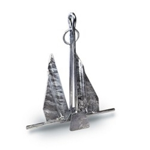 Hooker Quik-Set Galvanized Fluke Style Slip-Ring Anchor