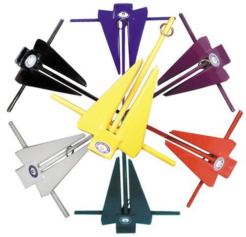Greenfield PVC Coated Slip Ring Fluke Anchor
