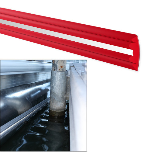 MEGAWARE PONTOONGUARD® - 40' KIT - (2) 20' GUARDS F/PONTOON UP TO 25' - RED