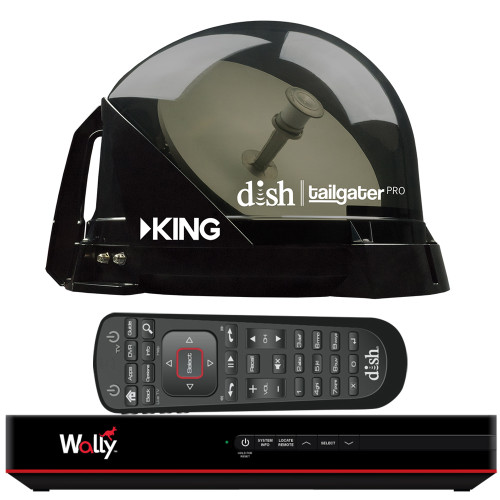 KING DISH® TAILGATER® PRO PREMIUM SATELLITE PORTABLE TV ANTENNA W/DISH® WALLY® HD RECEIVER