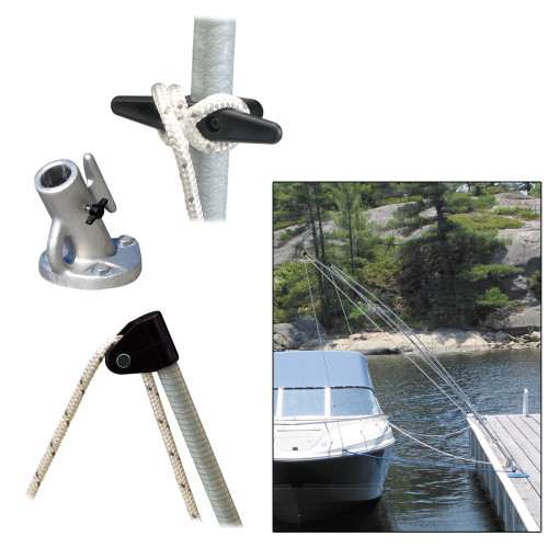 DOCK EDGE PREMIUM MOORING WHIPS 2PC 8FT 2,500 LBS UP TO 18FT