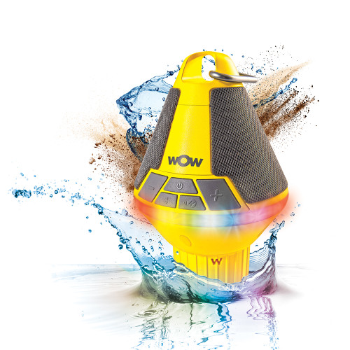 """WOW Watersports WOW-SOUND Buoy Bluetooth Speaker Available Colors"""" Blue & Yellow"""