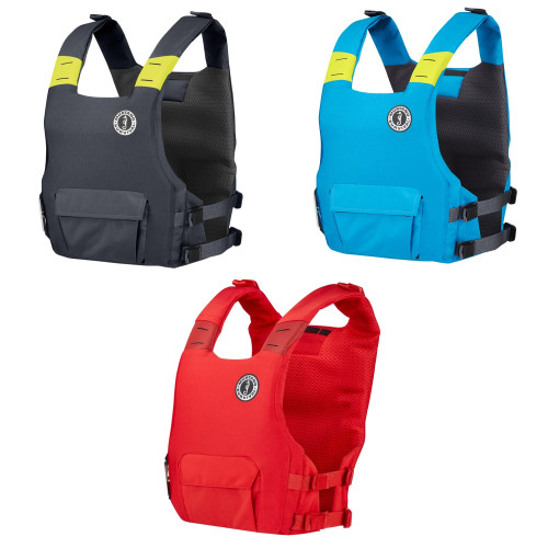 Mustang Khimera Hybrid Dual Flotation PFD Admiral ( Available Colors: Red,Azure Blue, And Grey)