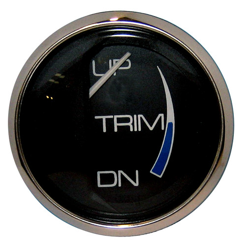 "FARIA CHESAPEAKE BLACK 2"" TRIM GAUGE (MERCURY / MARINER / MERCRUISER / VOLVO DP / YAMAHA-2001 AND NEWER)"