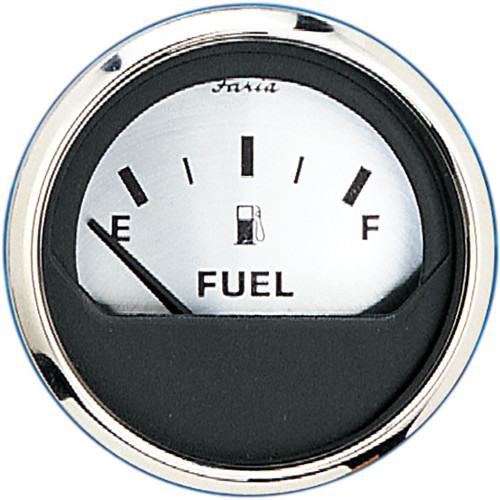 "FARIA 2"" FUEL LEVEL GAUGE (E-1/2-F) - SPUN SILVER"