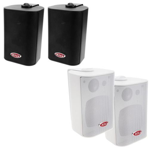 "Boss Audio MR4.3W 4"" 3-Way Marine Enclosed System Box Speakers - 200W"