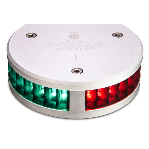 Lopolight Combined SideLights - 1nm f/Vessels up to 39'(12M) - Half Circle Housing - Horizontal Mounting
