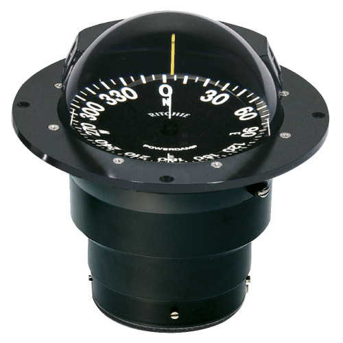 Ritchie FB-500 Globemaster Compass - Flush Mount - Black - 12V - 5 Degree Card