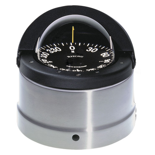 Ritchie DNP-200 Navigator Compass - Binnacle Mount - Polished Stainless Steel/Black