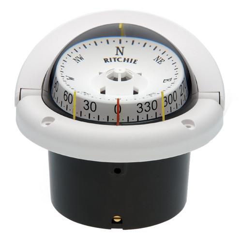Ritchie HF-743W Helmsman Compass - Flush Mount - White