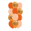 12pcs 11'' Safari Animal Print Balloons Cluster - Fashion Color