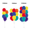 "12"" Vibrant Rainbow Latex Balloons Cluster - Fashion Color"