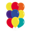 """9pcs 12"""" Vibrant Rainbow Latex Balloons in a  Cluster - Fashion Color"""