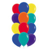 """12pcs 12"""" Vibrant Rainbow Latex Balloons in a  Cluster - Fashion Color"""