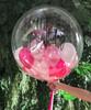 32'' Personalised Jumbo Perfectly Round Gumball Aqua Balloon - Mini Metallic Balloons Stuffed (22 Colors)