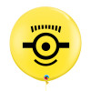 "36"" Jumbo Perfectly Round Minion Balloons (Yellow) - Carl"