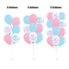 "12"" Gender Reveal Latex Balloons Cluster"