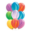 12inch Rainbow Marble Pattern Latex Balloons Cluster (9pcs)
