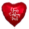 """32"""" Personalised Giant Heart Foil Balloon - Metallic Red"""