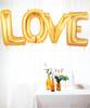 "40"" Giant Alphabet Foil Balloon (Gold) - A Set of letter ""LOVE"""