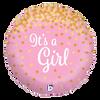 Glittering It's A Girk Foil Balloon (18inch)