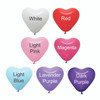 32'' Personalised Jumbo Perfectly Round Gumball Aqua Balloon - Mini Heart Balloons Stuffed (7 Colors)