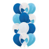 "12pcs 12"" Triplet Balloon Cluster - Metallic Color (12pcs)"