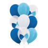 "9pcs 12"" Triplet Balloon Cluster - Metallic Color (9pcs)"