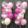 "(Create Your Own Helium Bouquet) 12"" Triplet Balloon Cluster - Fashion Color"