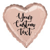 "18"" Personalised Heart Foil Balloon - Rose Gold"