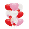 "9pcs 12"" Triplet Balloon Cluster - Heart Latex (9pcs)"
